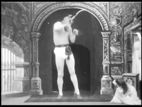 The Devil and the Statue (1901) - Georges Melies | Progressing the new re-sizing trick which Méliès unveiled in The Man with the Rubber Head.
