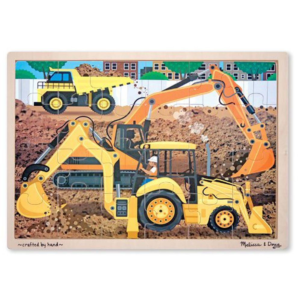 New toys images  Melissa And Doug Diggers At Work  Piece Wooden Jigsaw Puzzle NEW