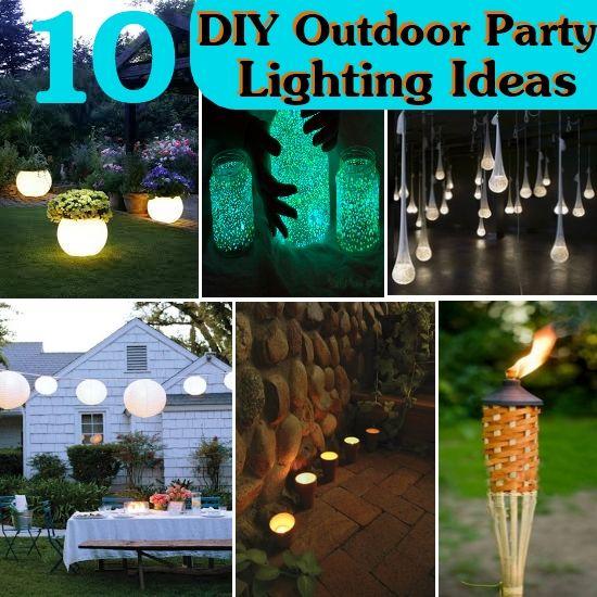 diy outdoor party lighting. 10 DIY Outdoor Party Lighting Ideas - Http://www.interiorzy.com Diy O