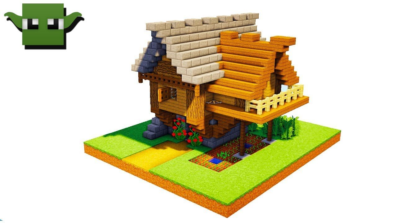Minecraft Medieval Small House Tutorial (EASY 5X5 BUILDING