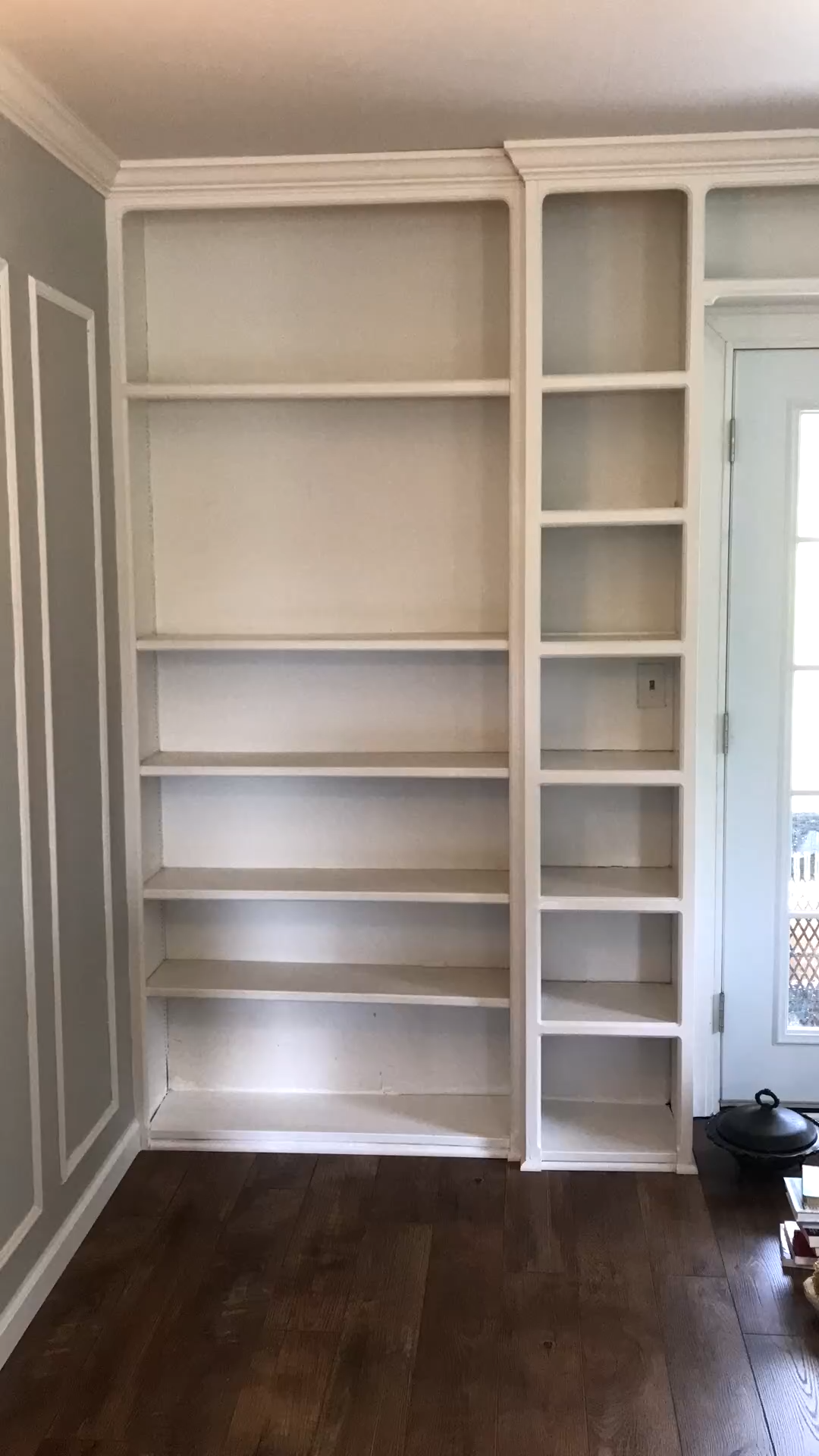Photo of styling a bookshelf