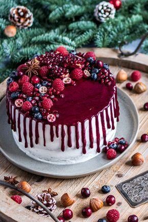 Photo of Winterlicher Traum in Rot – Mohn-Waldbeeren-Torte – mitliebezurtorte