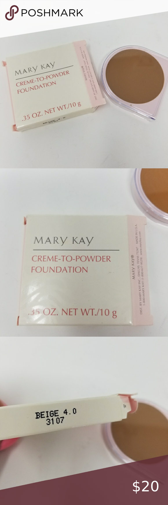 Mary Kay New Cremeto Powder Foundation Beige 4.0 NWT en