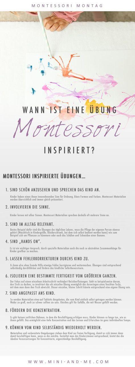 """Wann ist eine Übung """"Montessori inspiriert'? (Mit spannendem Experiment: Wir malen mit Wind!)"""
