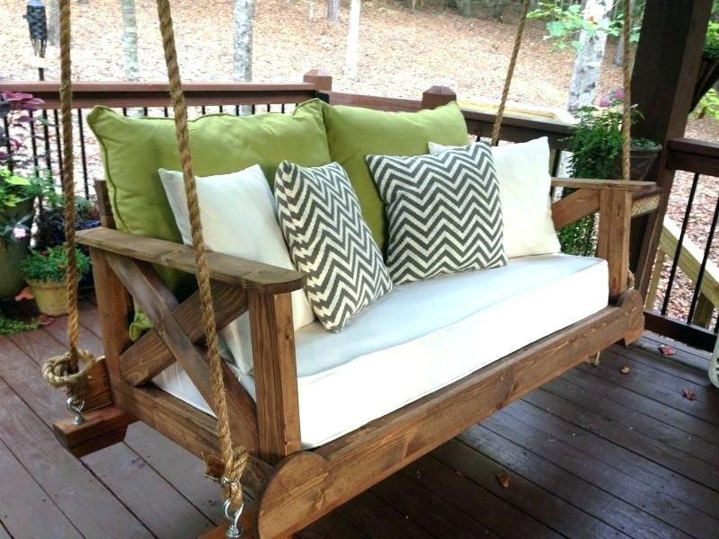 Hanging Bed Swing Diy Outdoor Porch Bed Swing Large Size Of