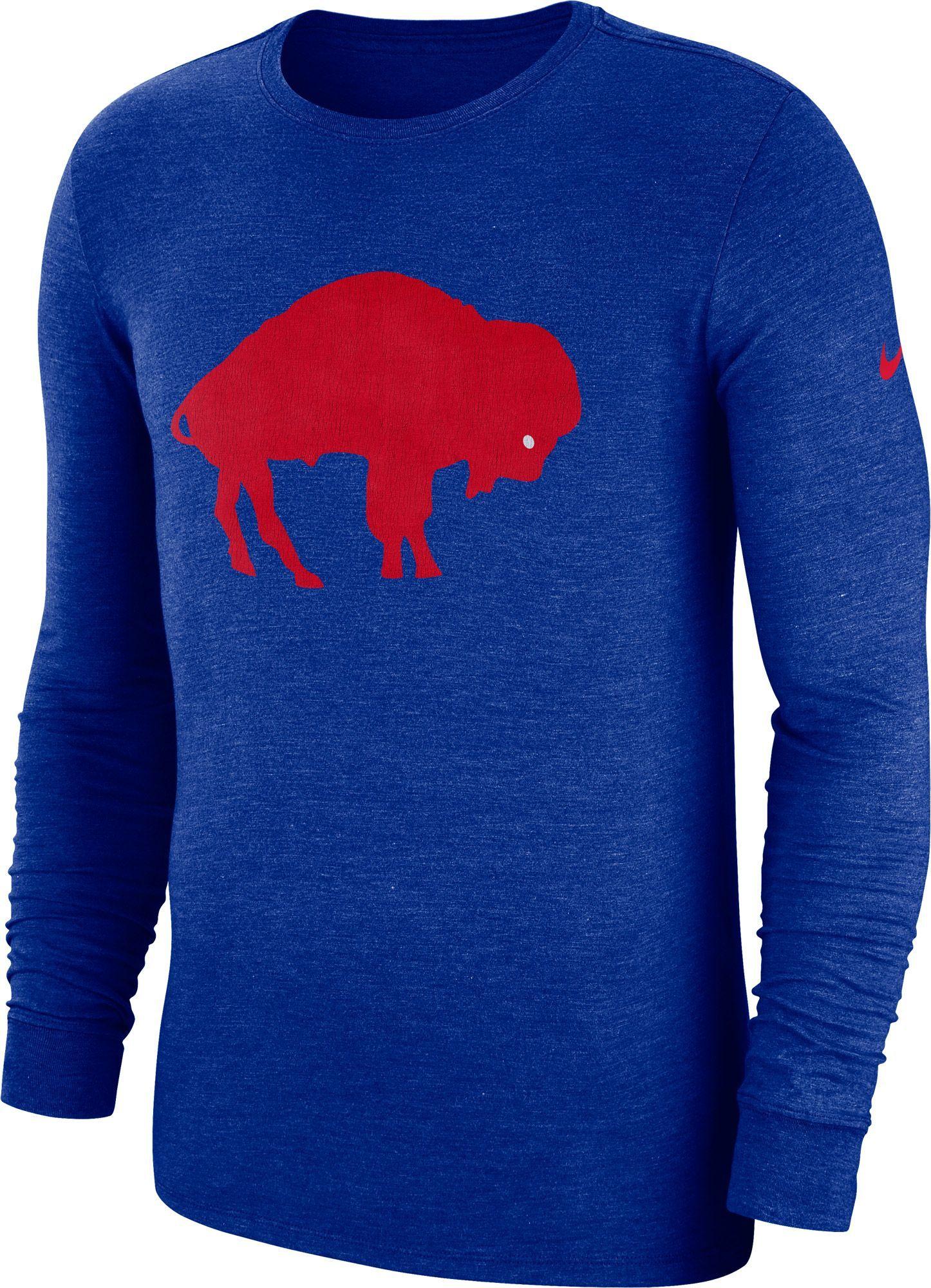 1498ebf9 Nike Men's Buffalo Tri-Blend Historic Crackle Royal Long Sleeve ...
