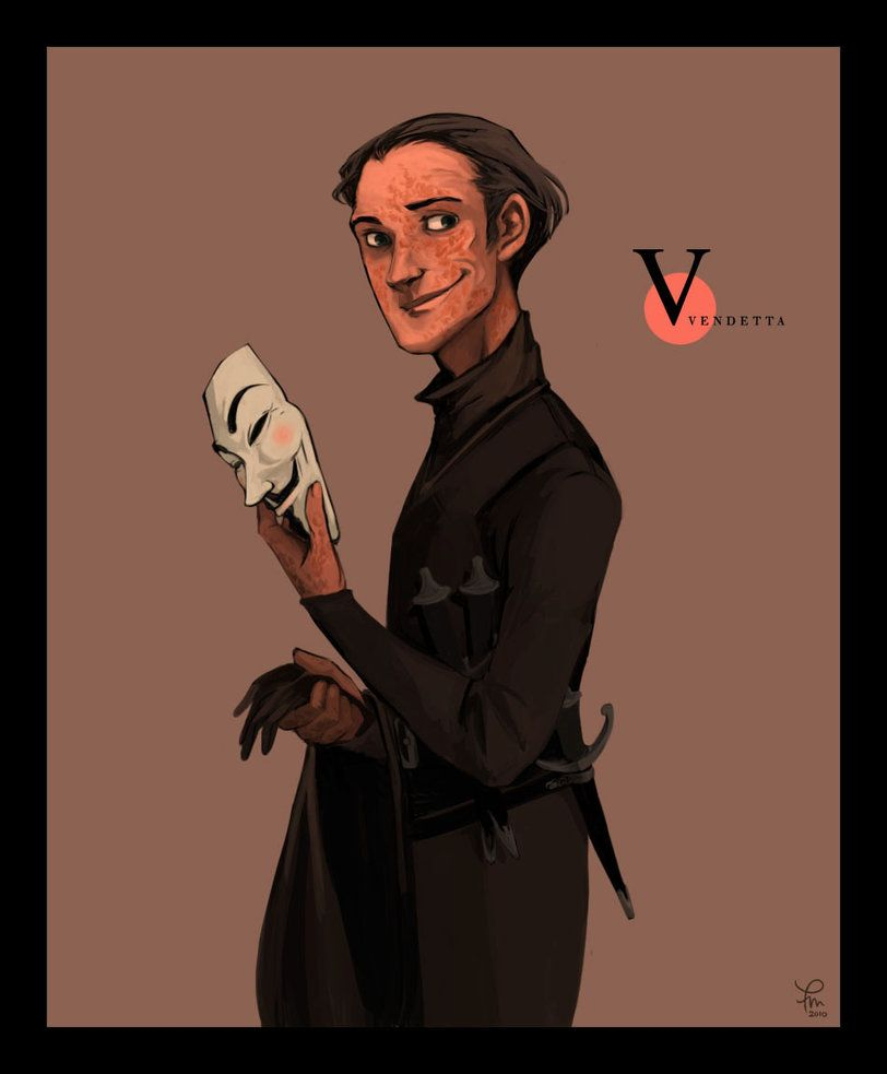 V Unmasked By Flominowa V For Vendetta Character Sketches Character Design