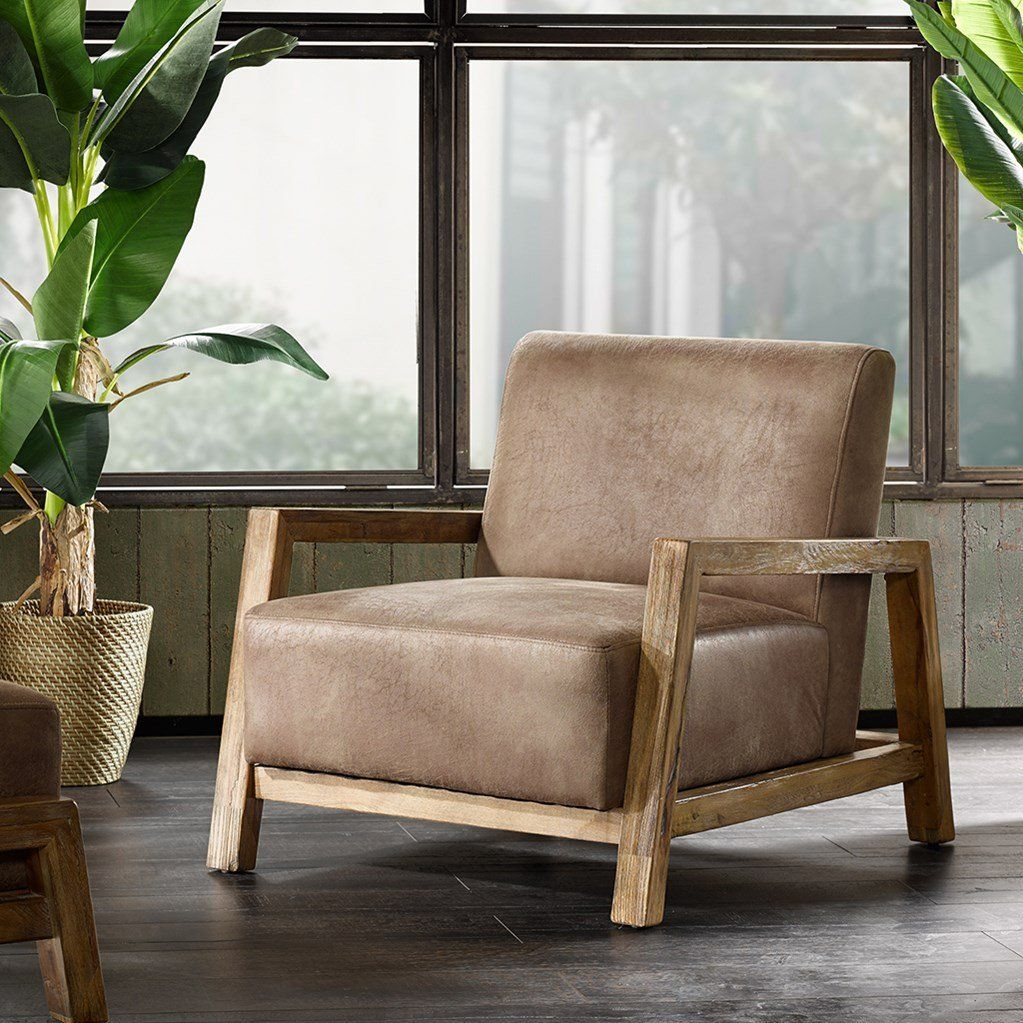 Best Amazon Com Mid Century Modern Rustic Style Taupe Brown 640 x 480