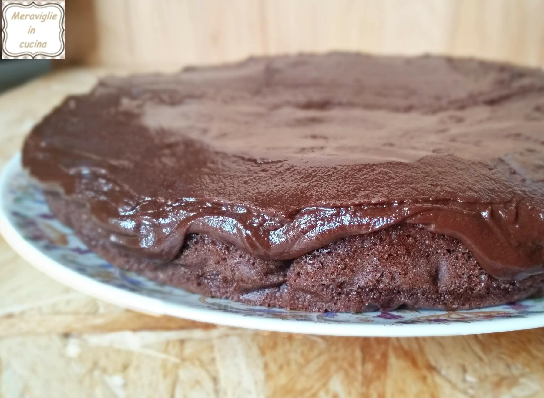 Torta Al Cioccolato Con Acqua.Torta All Acqua Al Cacao Con Glassa Al Cioccolato