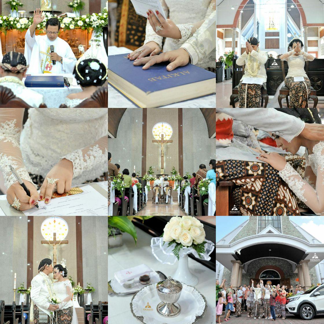 8 Foto Pemberkatan Nikah Nila+Gigih di Gereja Katolik Jogja
