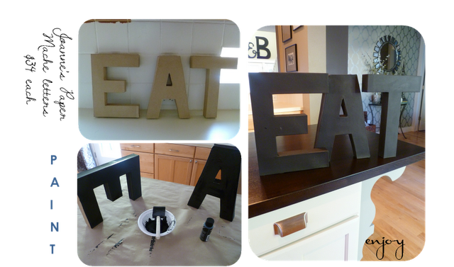Still love these EAT letters in a kitchen, may need to make these