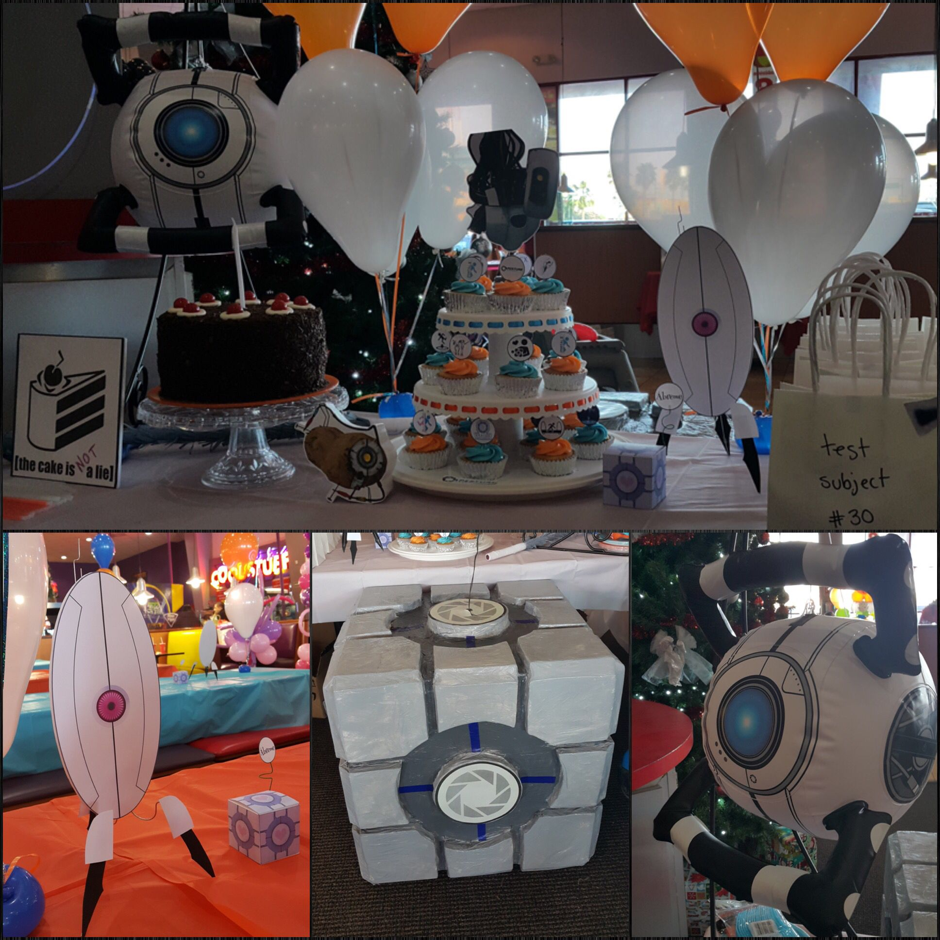 Portal 2 Party 2nd Birthday Parties Birthday Party Themes Video Game Room Decor