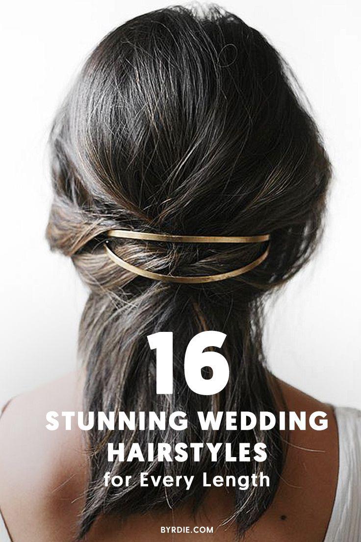 halfup halfdown wedding hairstyles for every length weddings