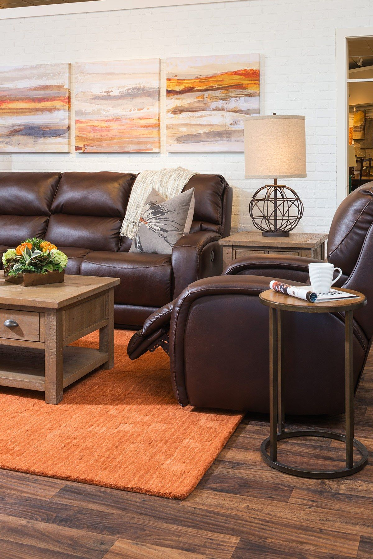 Decorating With Brown Leather Furniture Tips For A Lighter Brighter Look Schneiderman S The Blog Design And Decorating Brown Living Room Decor Living Room Decor Brown Couch Dark Brown Couch Living Room