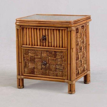 Tahiti nightstand rattan coastal casual Wicker Furniture
