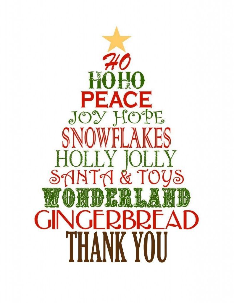 Favorite christmas gift thank you cards free christmas