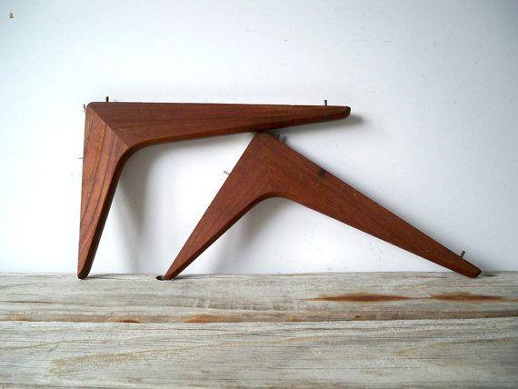 Pair Of Danish Modern Shelf Brackets By Gallivantinggirls On Etsy
