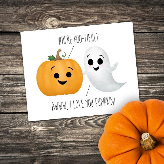 You Re Boo Tiful Awww I Love You Pumpkin 8x10 Digital Etsy Birthday Card Design Handmade Sticker I Love You Puns