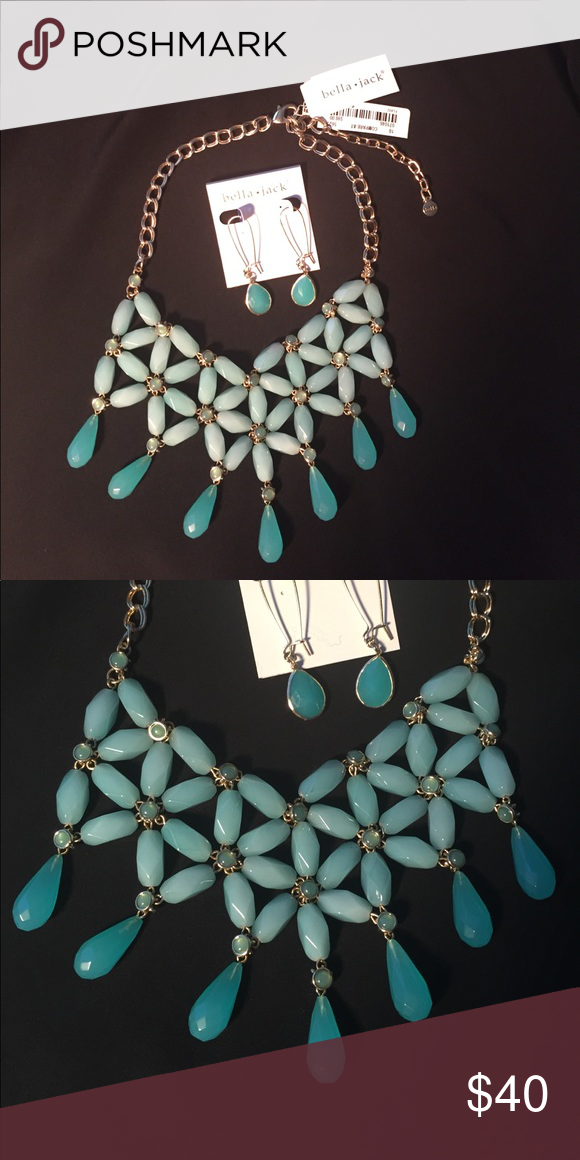 💙NWT: Bella: Necklace and earrings. NWT | Statement necklaces ...