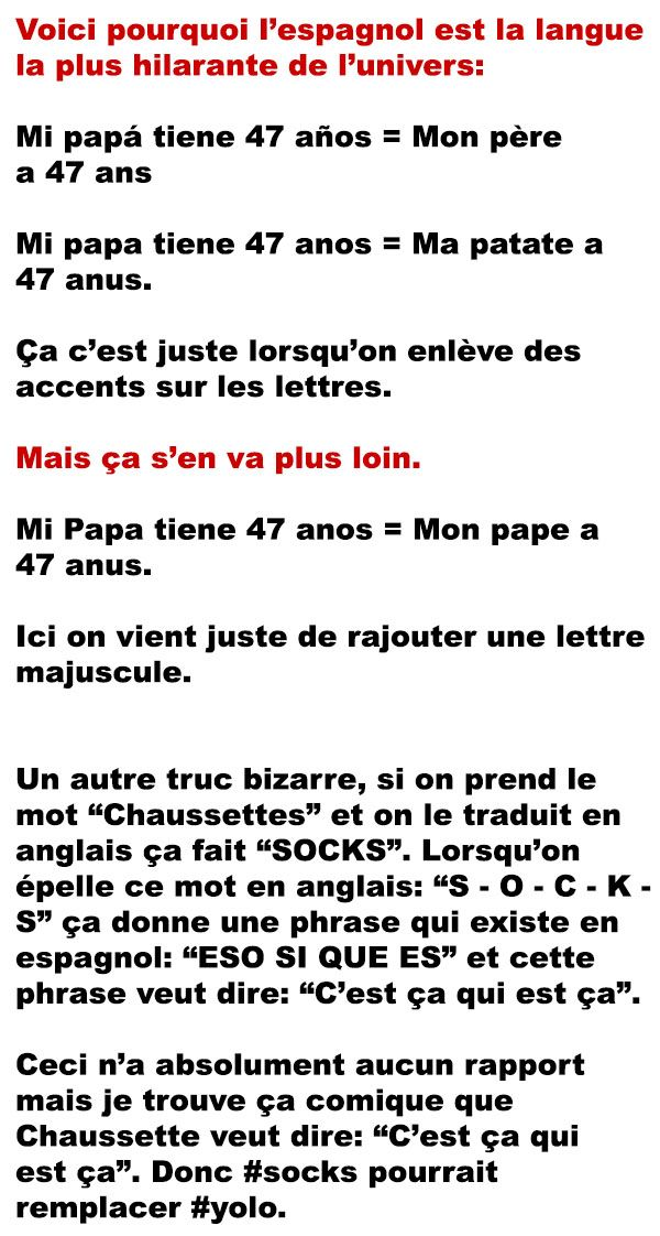 La Logique De Parler En Espagnol Funny Sms Citations Humour Humor