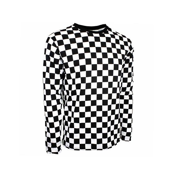 f5d89e900c20 Child Long Sleeve Black & White Checkered Shirt | Products | Black ...