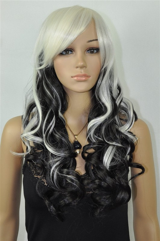 hair style with ying yang beautiful black and ombre white by 4911