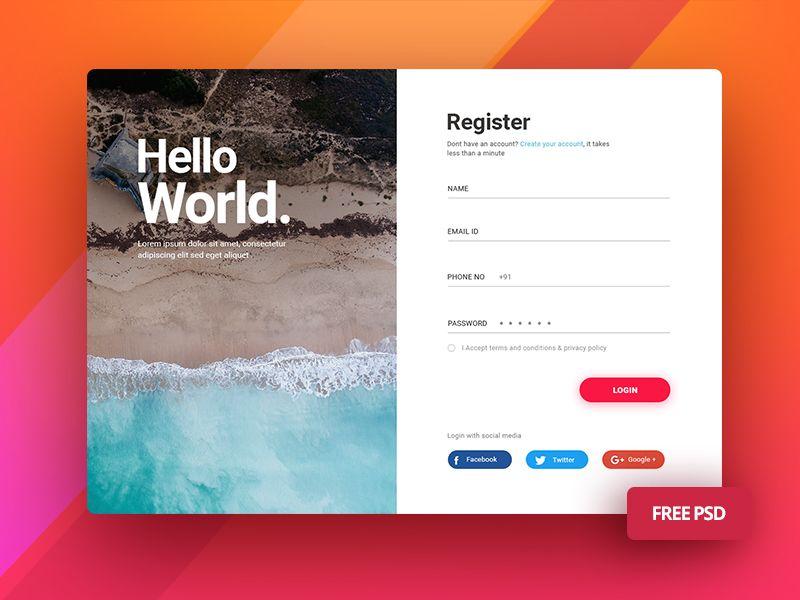Free Login Screen UI For Mobile And Desktop   UI kits free