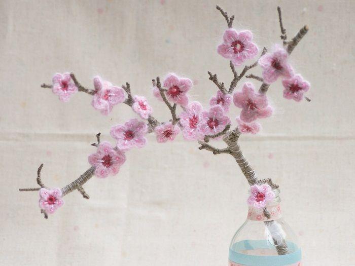 DIY-Anleitung: Kirschblüten häkeln via DaWanda.com | Blüten häkeln ...