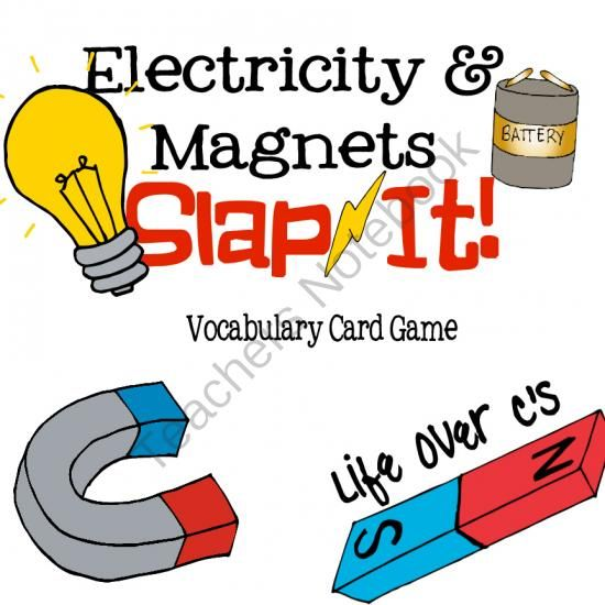 Electricity and Magnets Vocabulary Review Snap-It! Card Game from Life Over C's on TeachersNotebook.com -  (11 pages)  - Students will have fun practicing vocabulary terms for electricity & magnets with this fun partner or small group game.