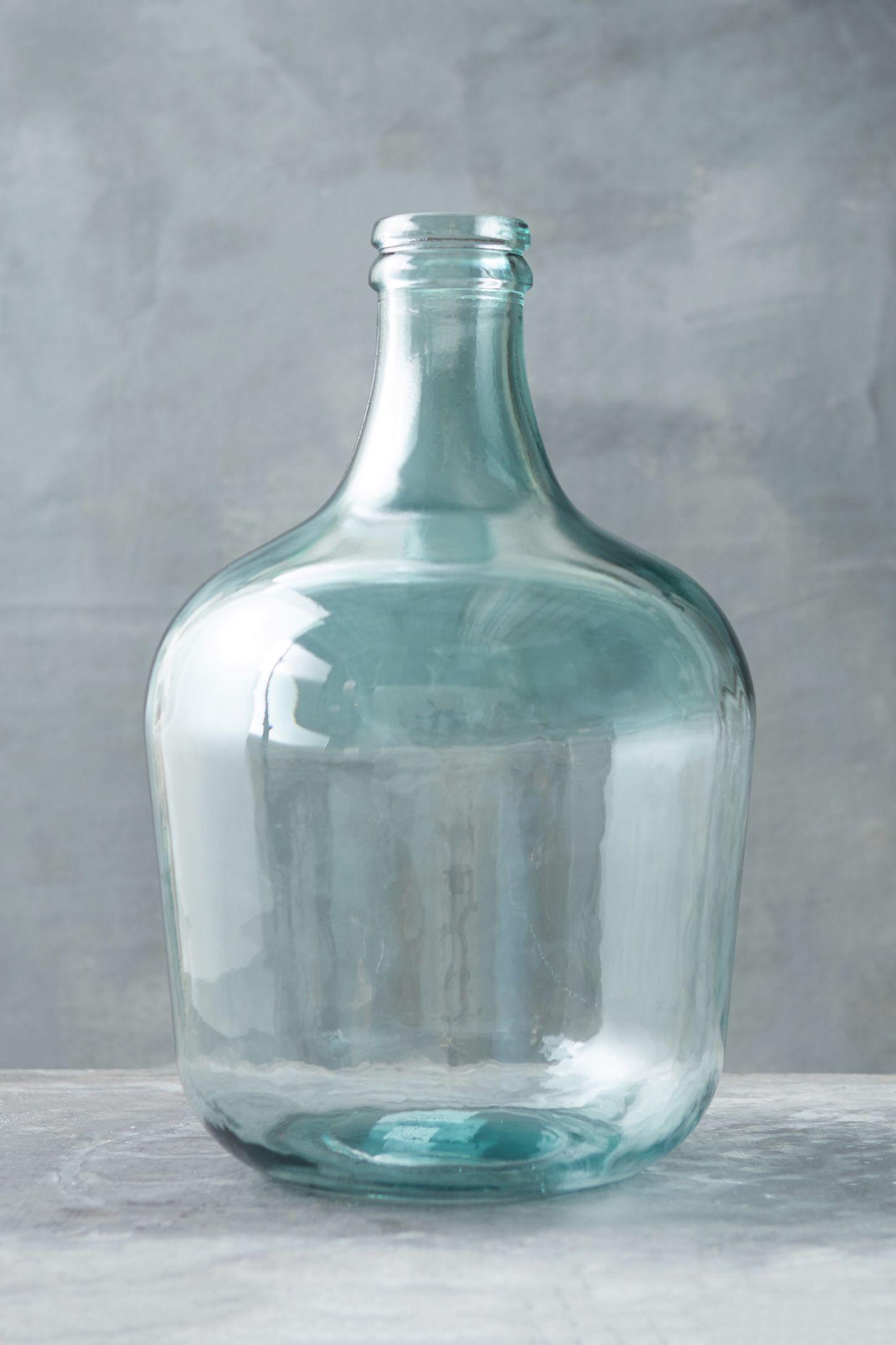 Recycled Glass Bottleneck Vase Anthropologie In 2020 Glass Jugs Decor Recycled Glass Jug Decor