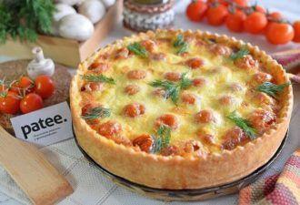 Сытный ужин для всей семьи. Итальянский киш с томатами ...