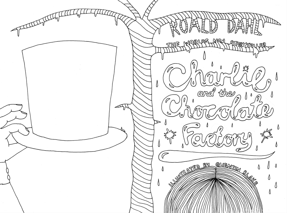 charlie and the chocolate factory coloring pages  kids