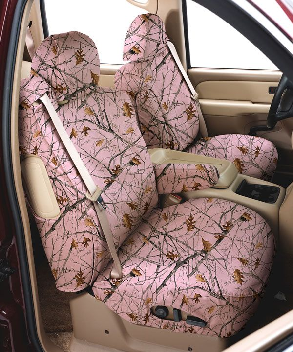 Pink Camo Seat Covers For Car Truck SUVs