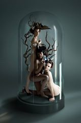 """Specimen"" —  Photographer: Delphine Cencig - Digital Artist  Hair: Jonathan Herzog  Models: Sokhna Niang, Caroline Martin Karayel, Cécile  #DarkBeauty #DarkBeautyMag #photography"