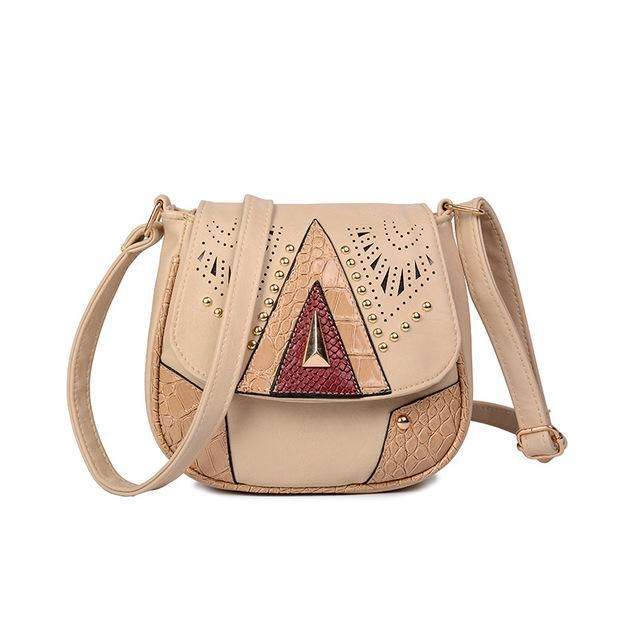 86f3d8f01 POPIGIST Milan design Leather stitching woman mini Bags Messenger Bags  Casual Ladies Shoulder Bag Handmade Tribal style