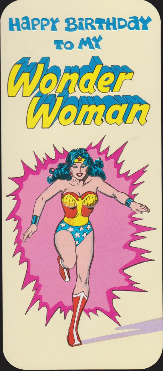 Happy Birthday Wonder Woman Quotes: 1978 MY WONDER WOMAN From Your Superman Retro By