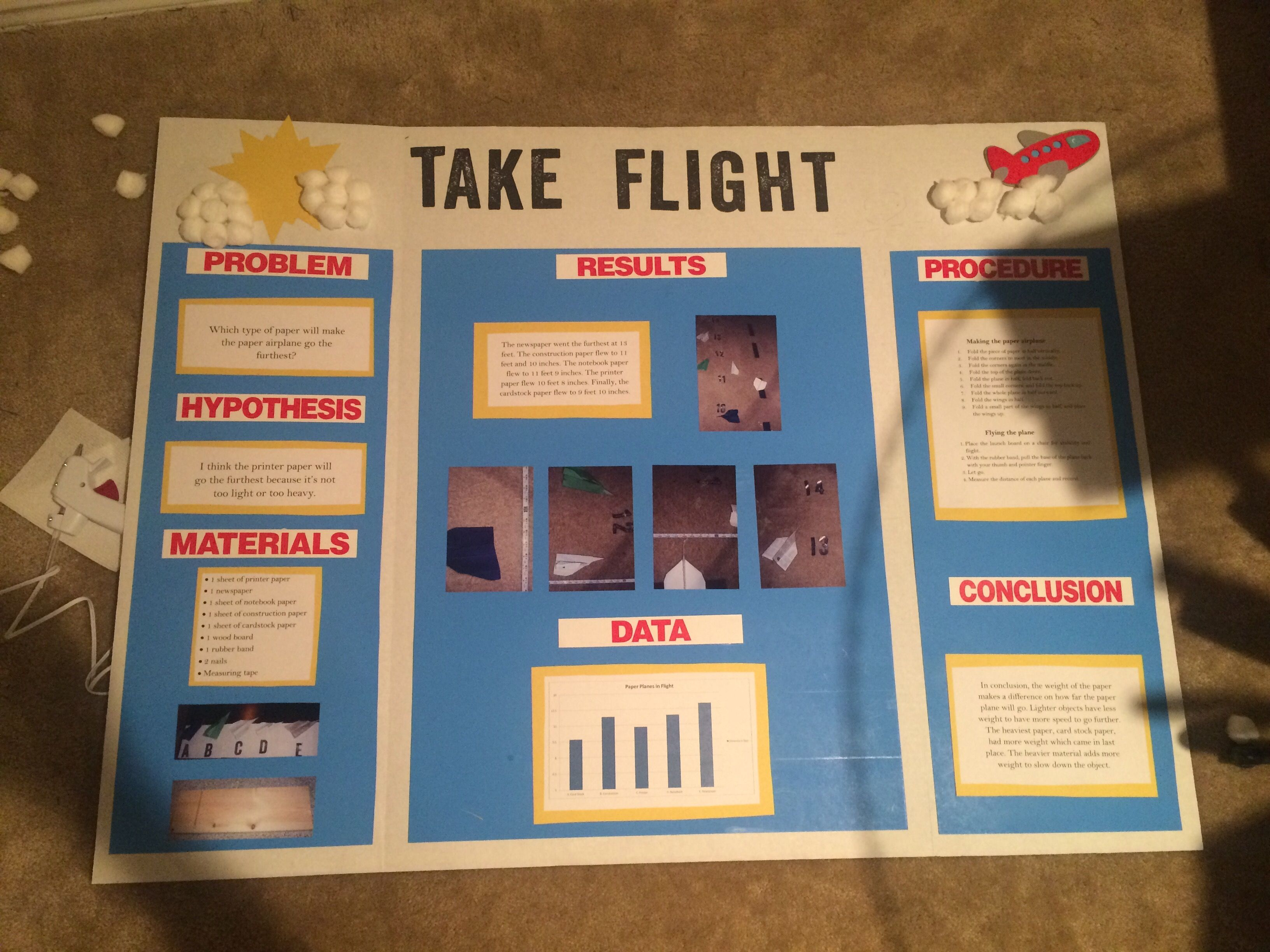 Paper Plane Idea For Second Grade Science Project Which