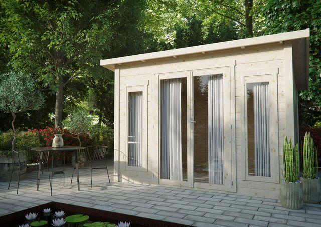 KiehnHolz Gartenhaus »Lillevilla 449«, BxT 377x345 cm