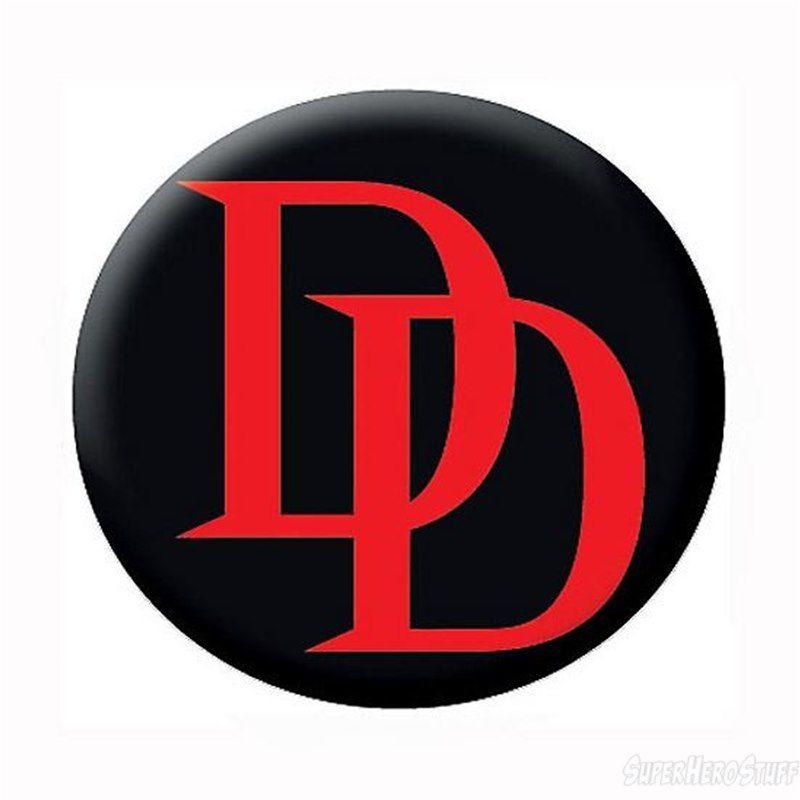 Daredevil Red Logo Black Button Daredevil Marvel Marvel Comics