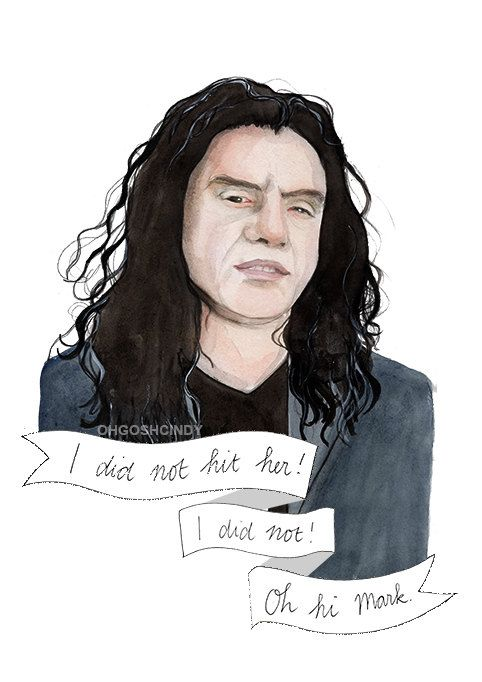 Tommy Wiseau watercolor portrait illustration PRINT The Room