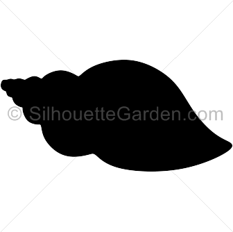 Seashell silhouette clip art. Download free versions of the image in EPS, JPG, PDF, PNG, and SVG formats at http://silhouettegarden.com/download/seashell-silhouette/