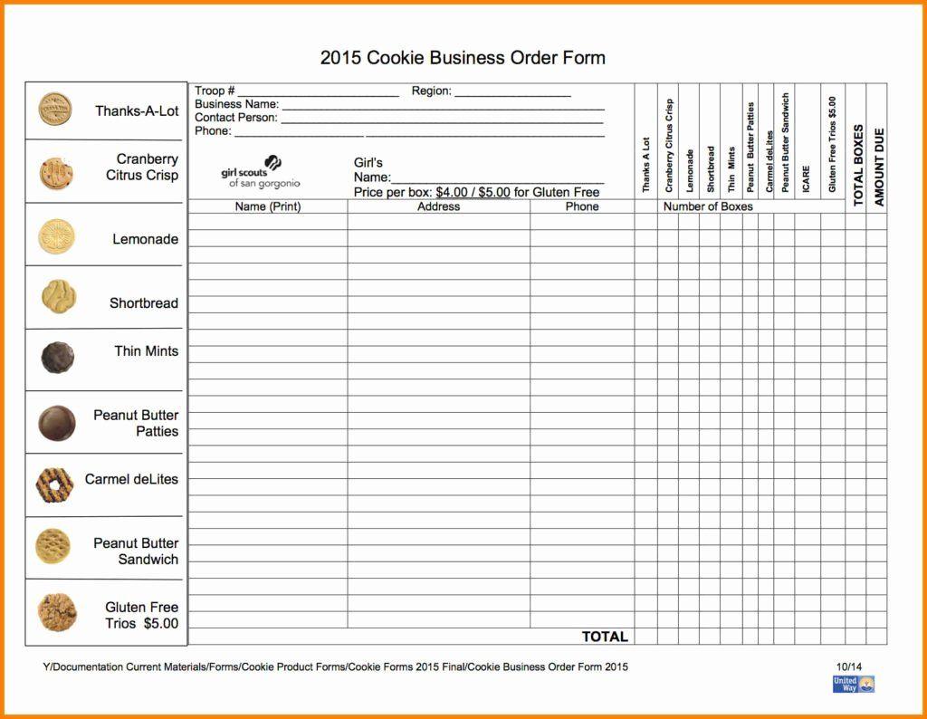 Cookie Order Form Template Lovely Orangewafer Design Newsletter