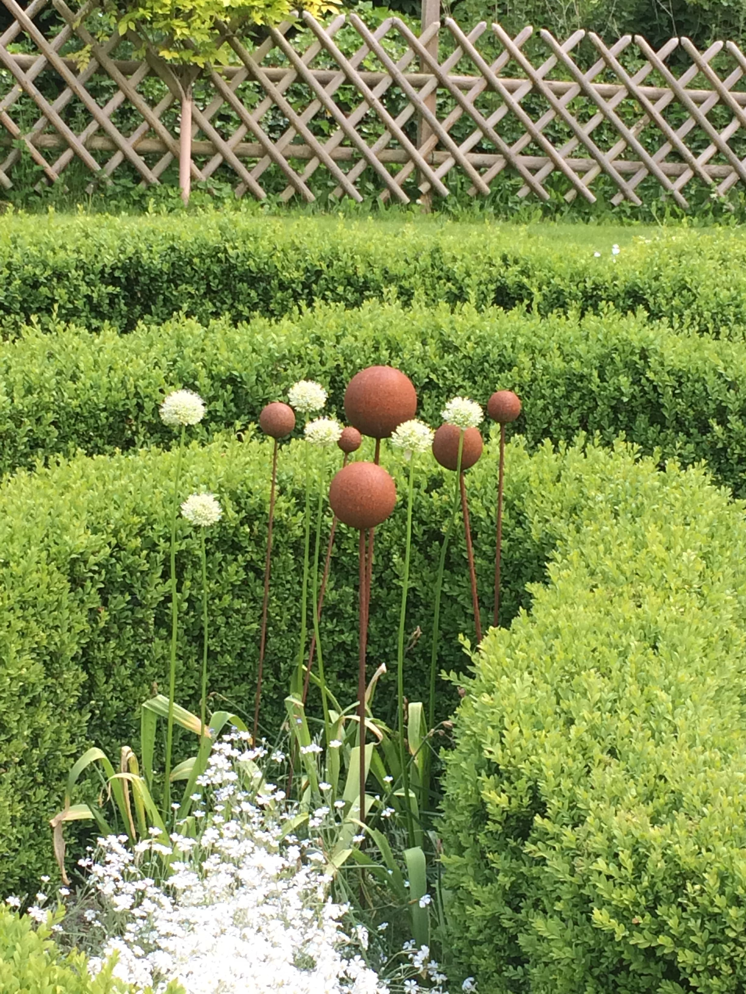 Alium And Rusty Balls, From Easton Walled Gardens