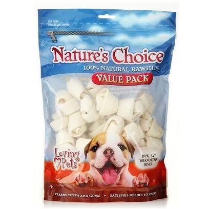Loving Pets Rawhide White Knotted Bones Pack Lv Rh Wht Knot Bone