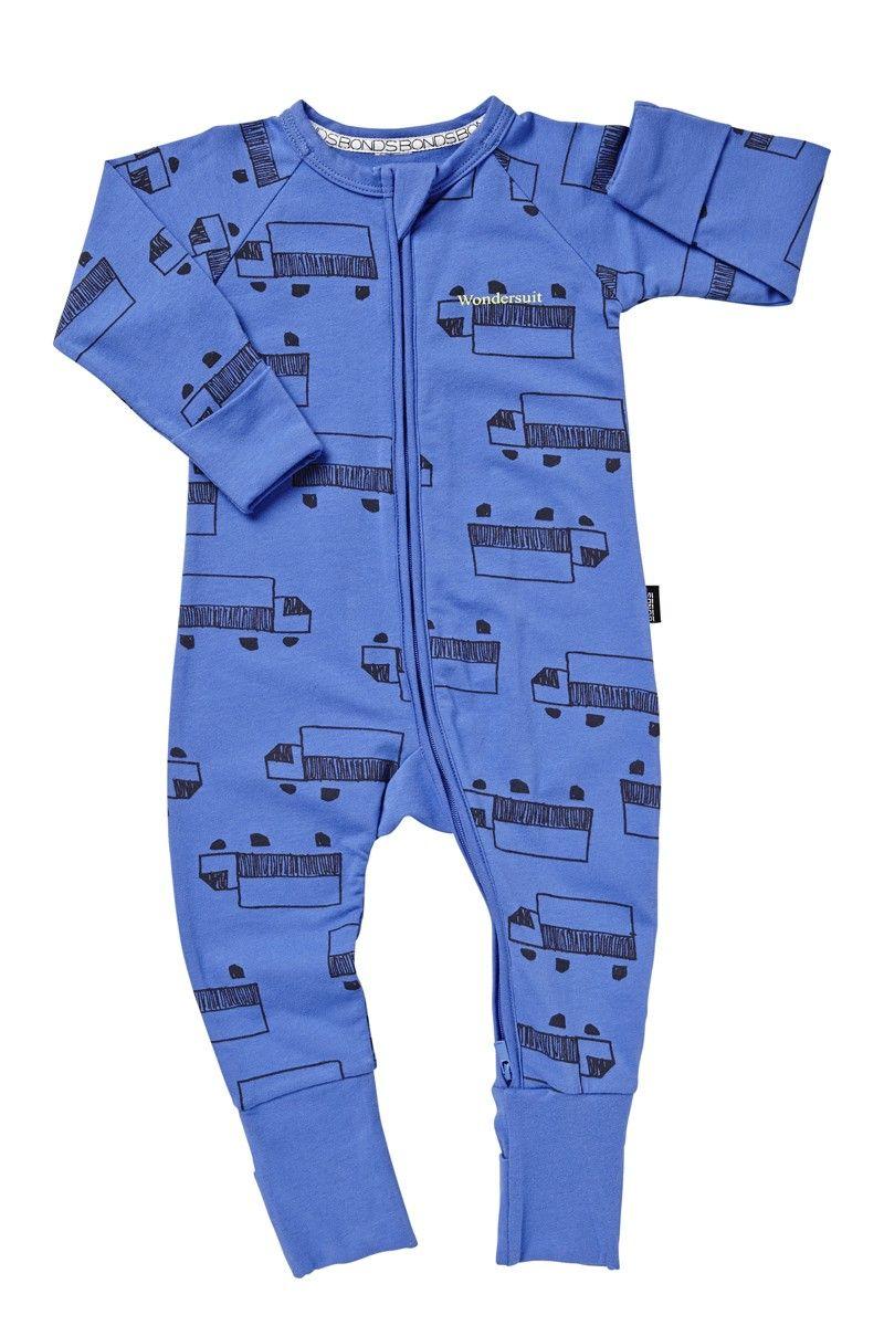 0a1d034ad BONDS Zip Wondersuit | Trucks Print | Little Boys | Cute baby ...