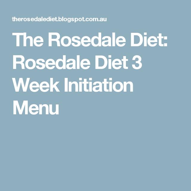 rosedale diet meal plan