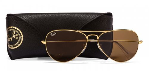 02840ac10f RB3025-L9797-Medium-Size-58-Golden-Brown-Aviator-Men-039-s-Sunglasses