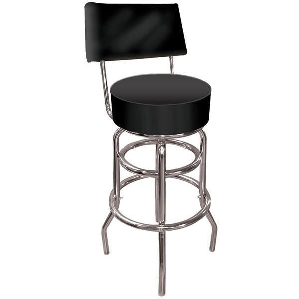 Outstanding High Grade Black Padded Bar Stool With Back In 2019 Customarchery Wood Chair Design Ideas Customarcherynet