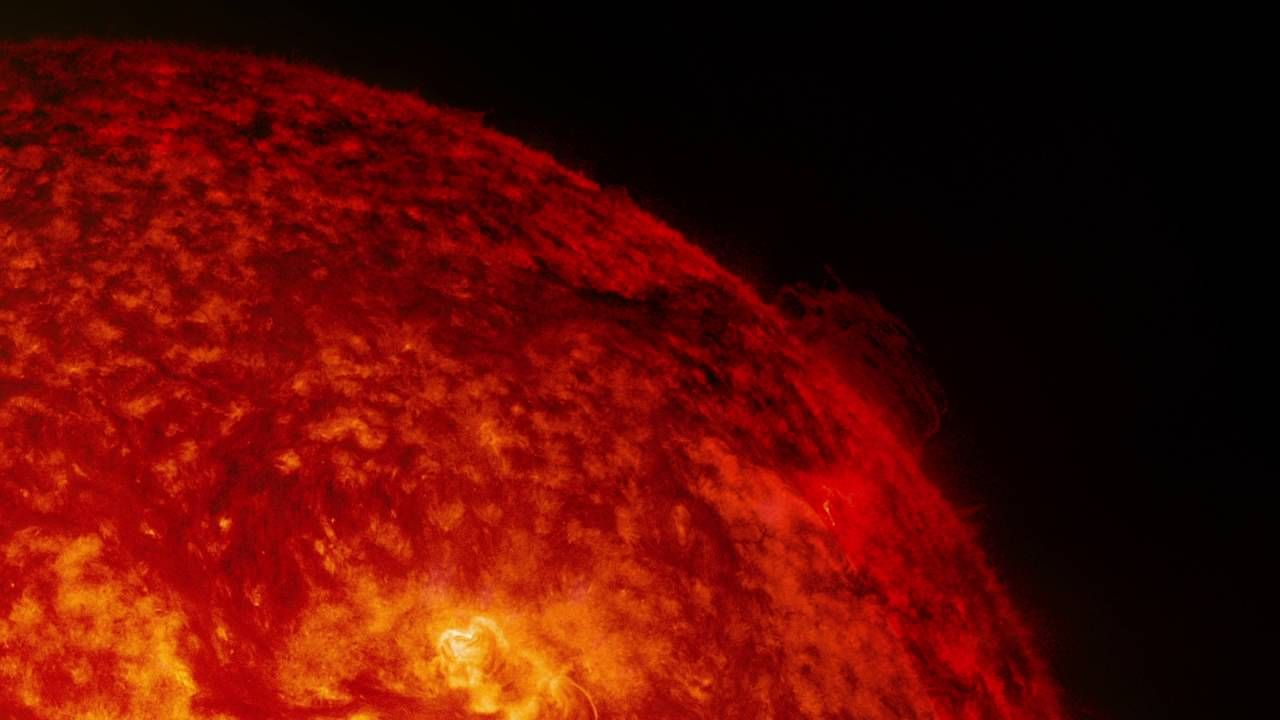 Solar Material Twists on Sun's Surface