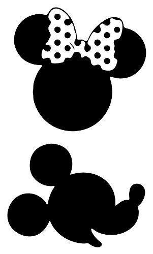 Wonderbaar Mickey and Minnie Mouse | Disney silhouetten, Kleurplaten, Mickey CG-36